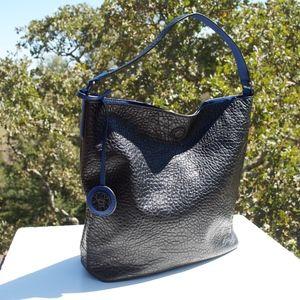 Sydney Love Reversible Black Blue Pebbled Bag